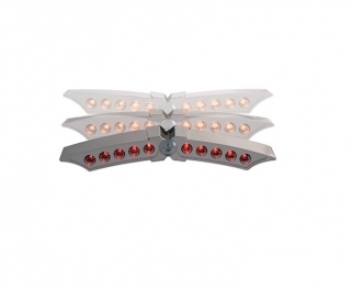 FEU ARRIERE A LEDS : PAPILLON - CHROME